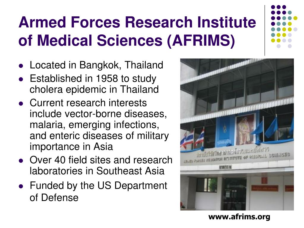 Armed Forces Research Institute of Medical Sciences (AFRIMS)