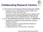 collaborating research centers