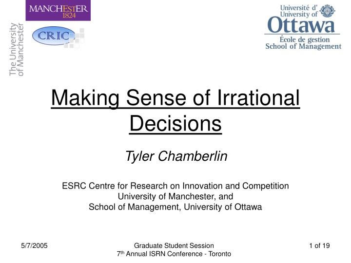 2 Examples that Help you Understand Irrational Decisions