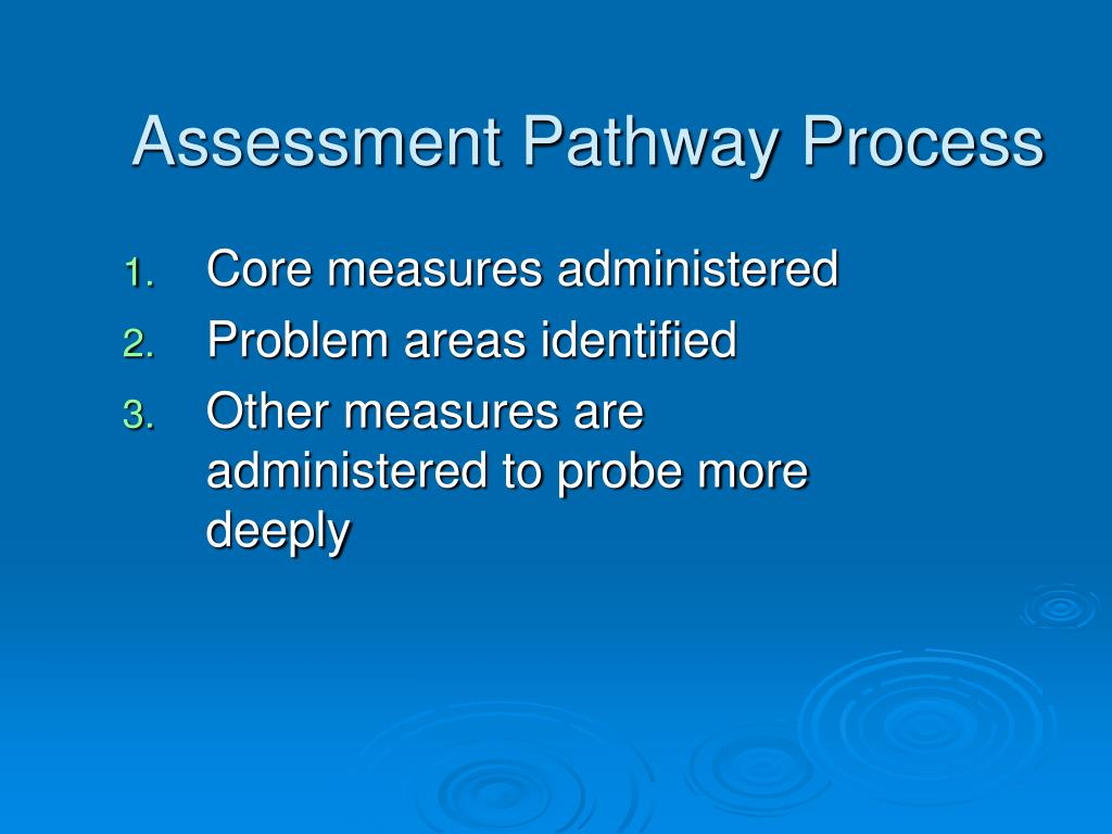Assessment Pathway Process