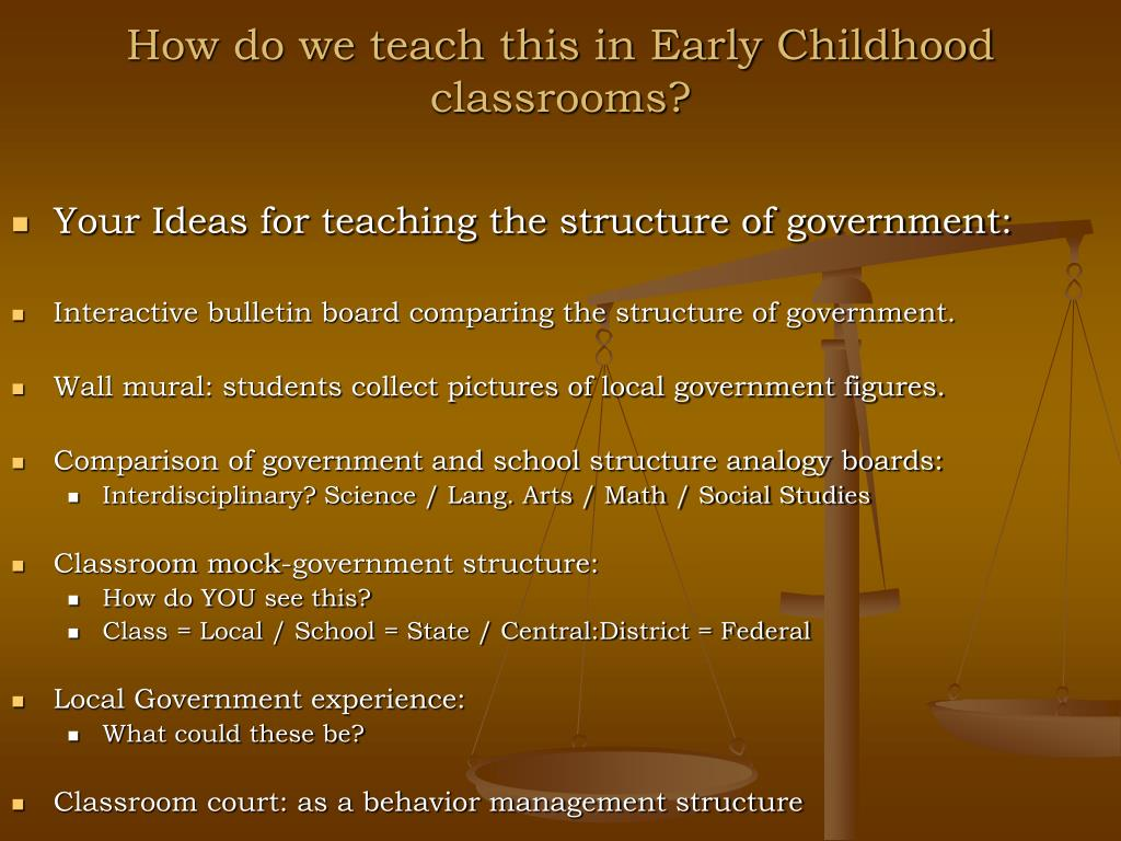 How do we teach this in Early Childhood classrooms?