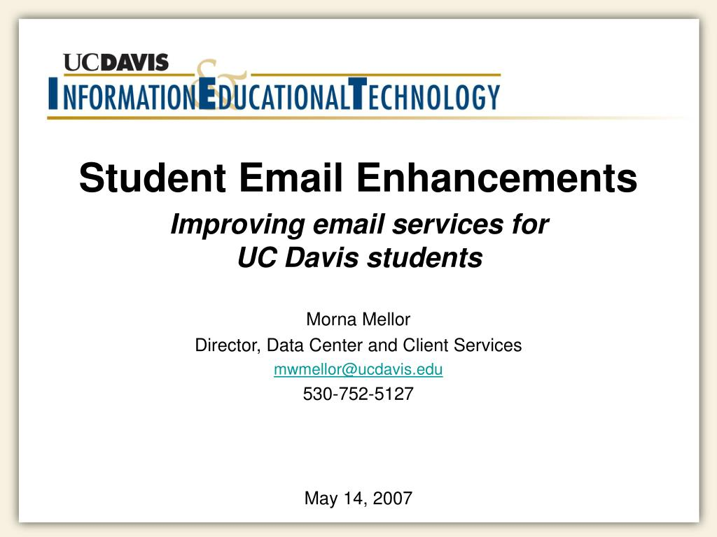 Student Email Enhancements