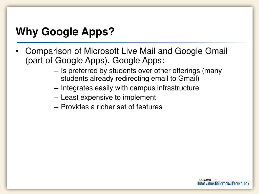 Why Google Apps?