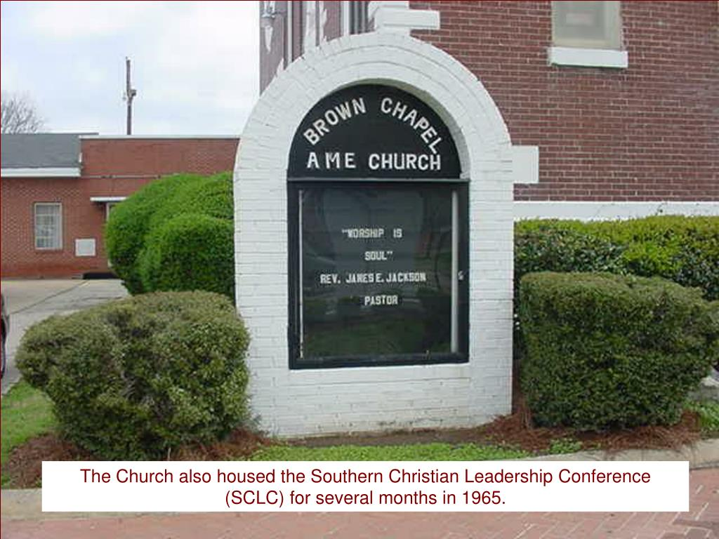 The Church also housed the Southern Christian Leadership Conference (SCLC) for several months in 1965.