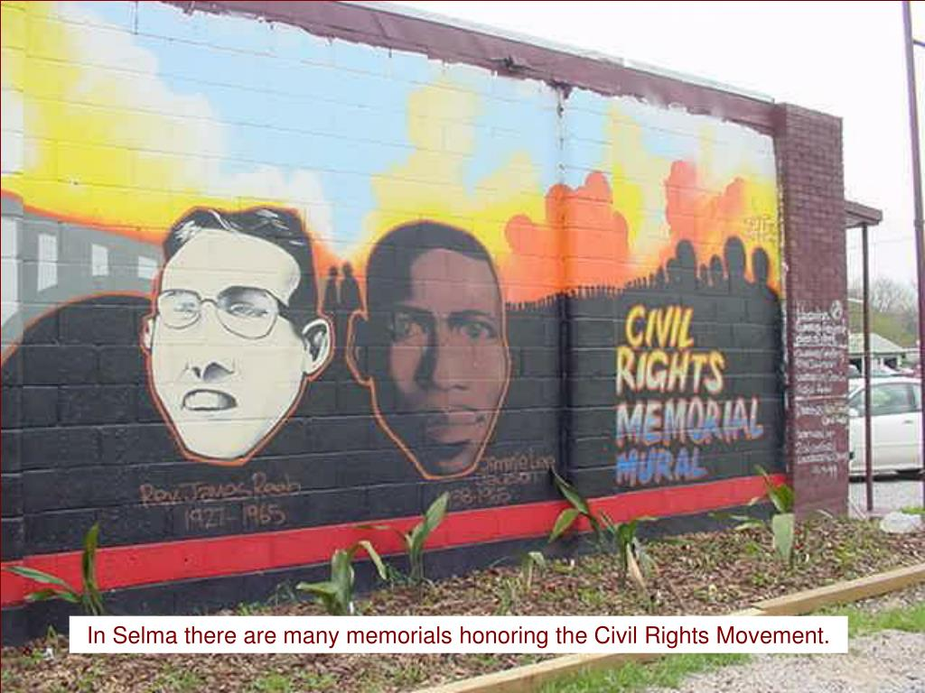 In Selma there are many memorials honoring the Civil Rights Movement.