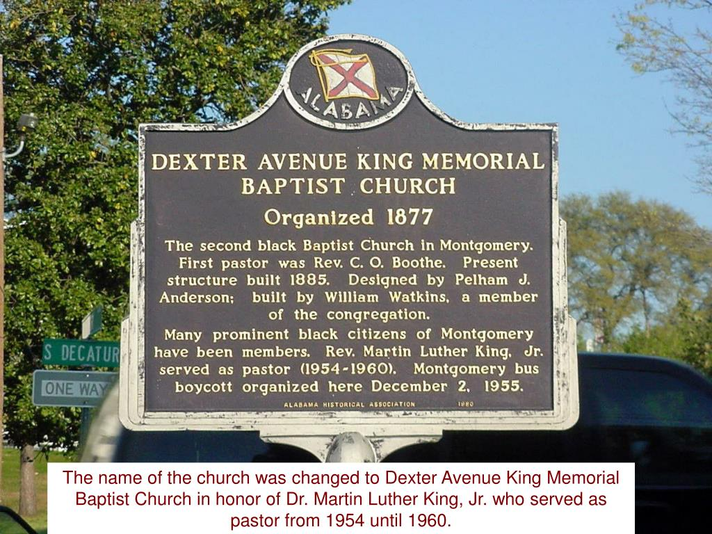 The name of the church was changed to Dexter Avenue King Memorial Baptist Church in honor of Dr. Martin Luther King, Jr. who served as pastor from 1954 until 1960.