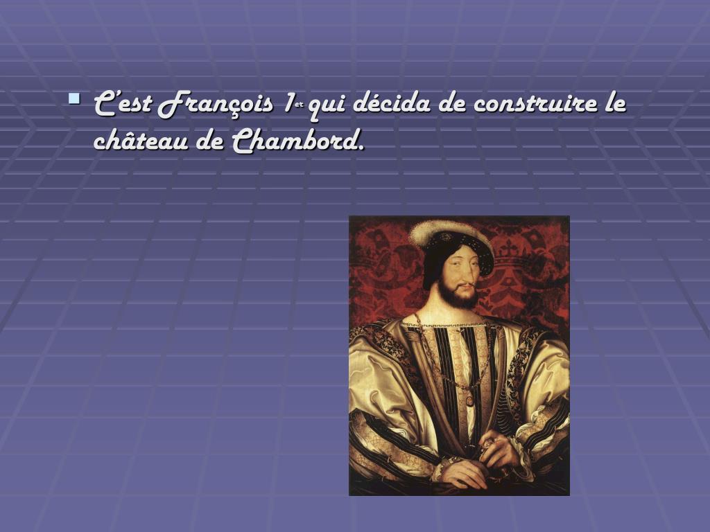 C'est François 1