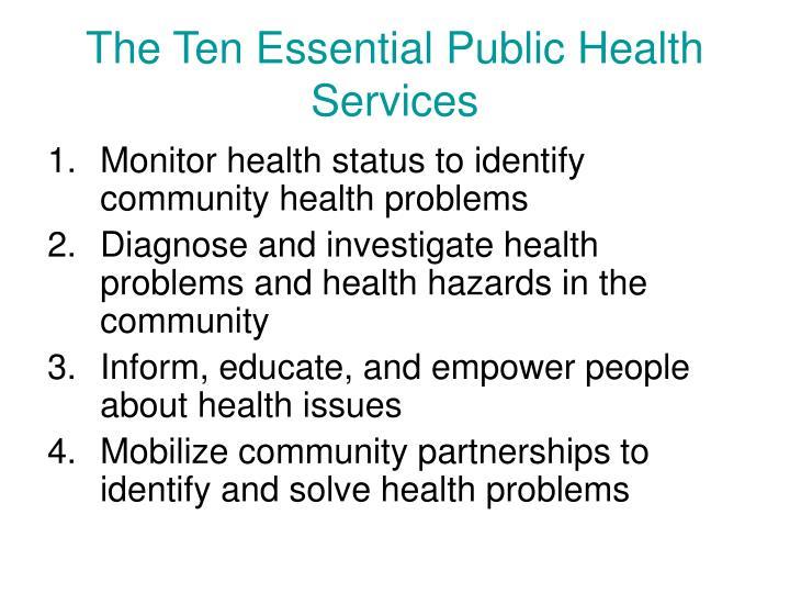 The Ten Essential Public Health Services