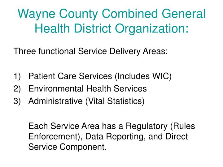Wayne County Combined General Health District Organization: