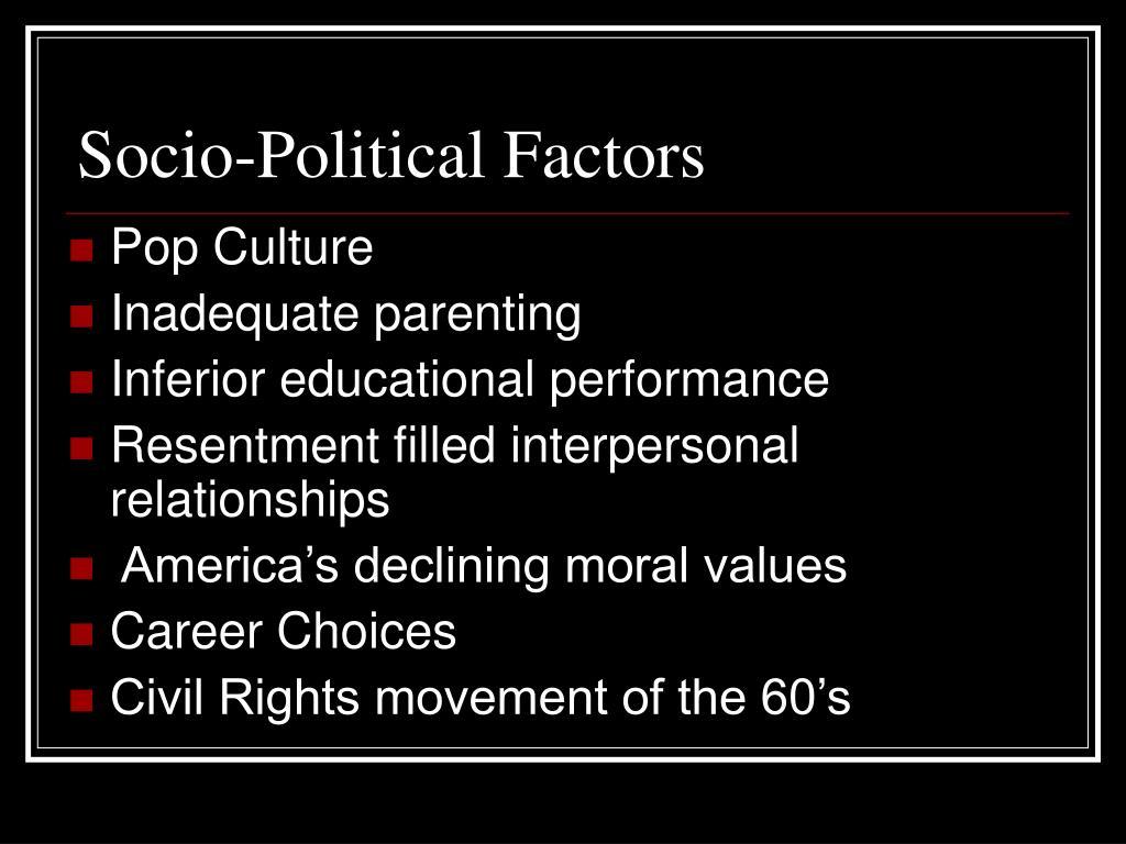 Socio-Political Factors