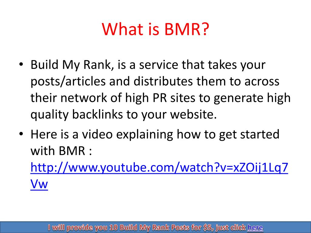 What is BMR?
