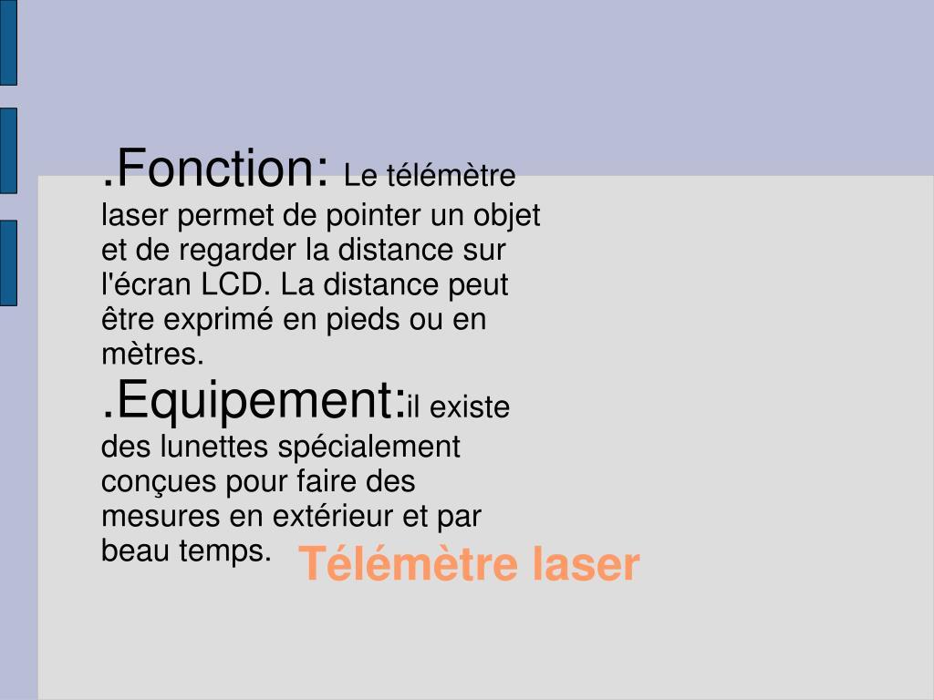 .Fonction: