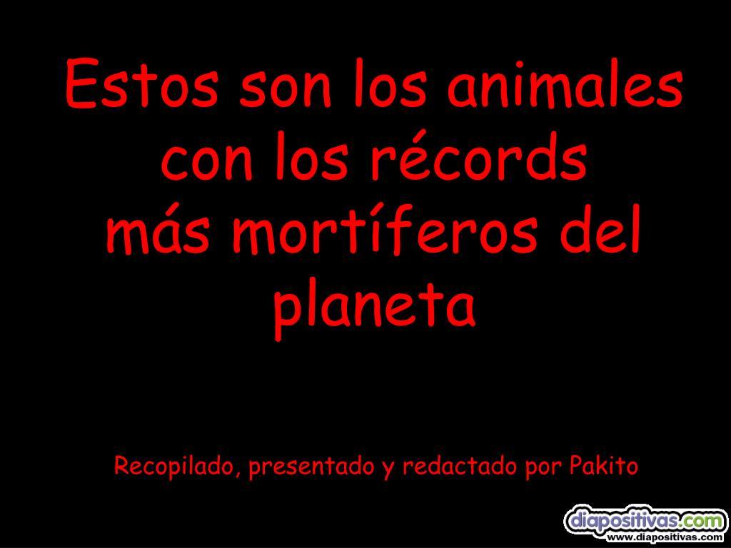 Estos son los animales con los récords