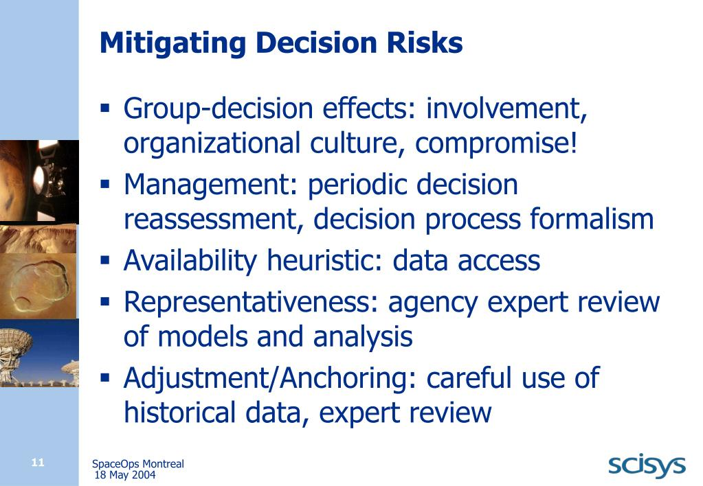 Mitigating Decision Risks