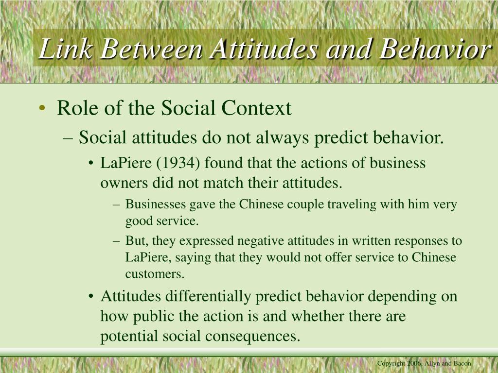 essay attitude behaviour