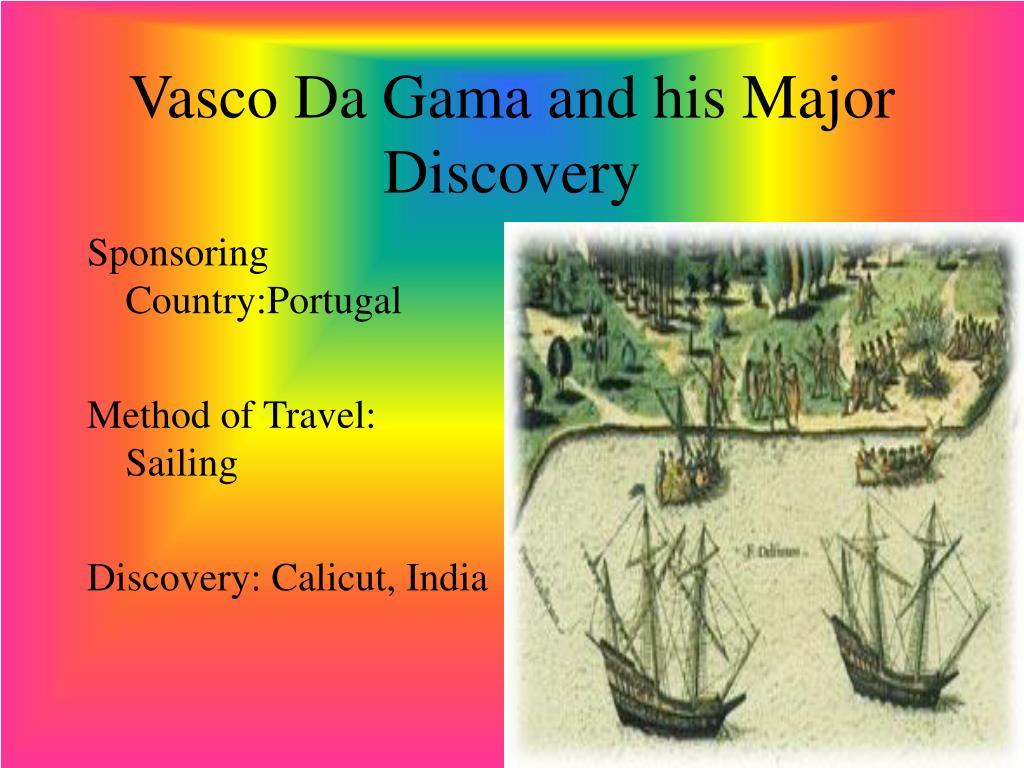 what did vasco de gama discover