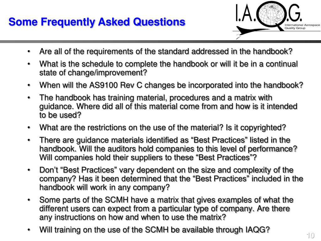 Are all of the requirements of the standard addressed in the handbook?