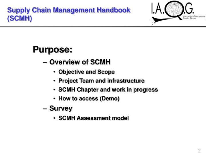Supply chain management handbook scmh