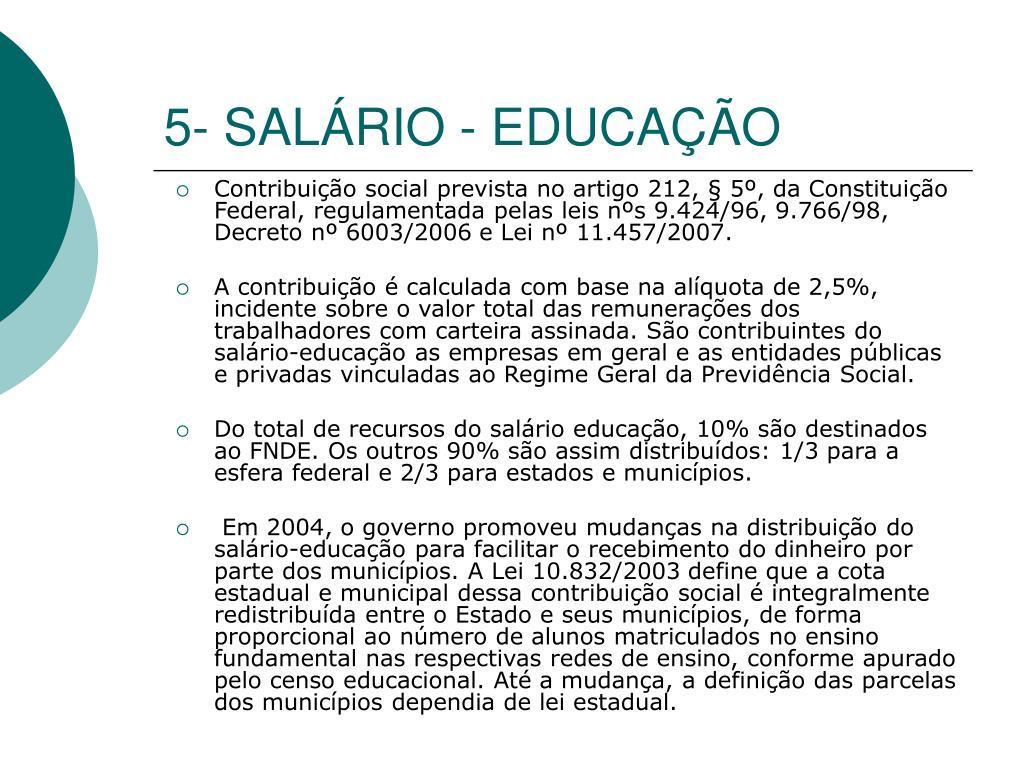5- SALÁRIO - EDUCAÇÃO