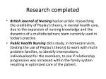 research completed9