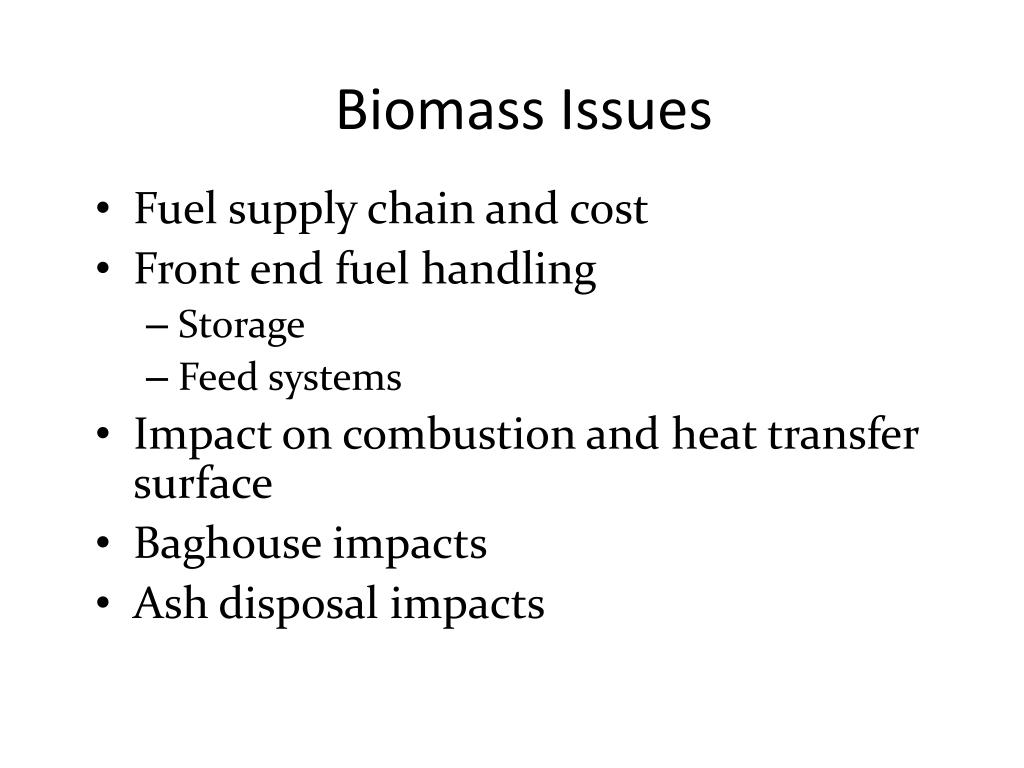 Biomass Issues