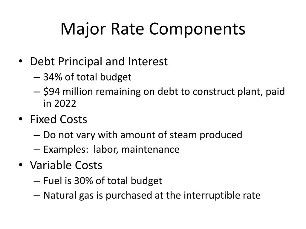 Major Rate Components