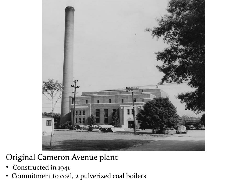 Original Cameron Avenue plant