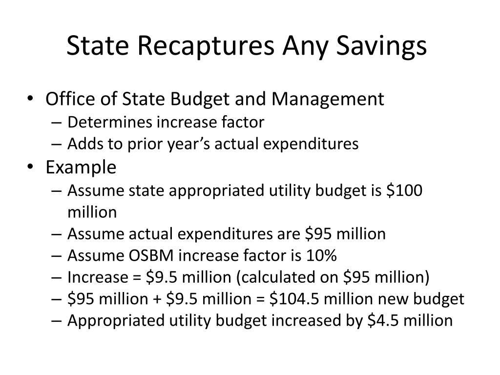 State Recaptures Any Savings