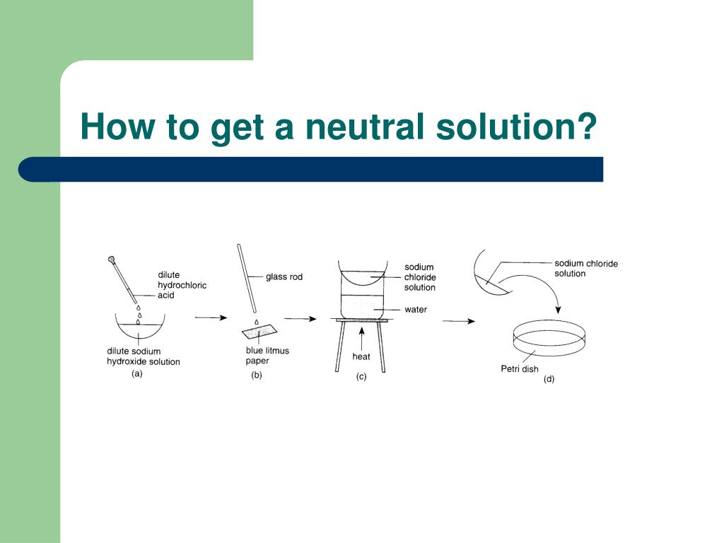 How to get a neutral solution?