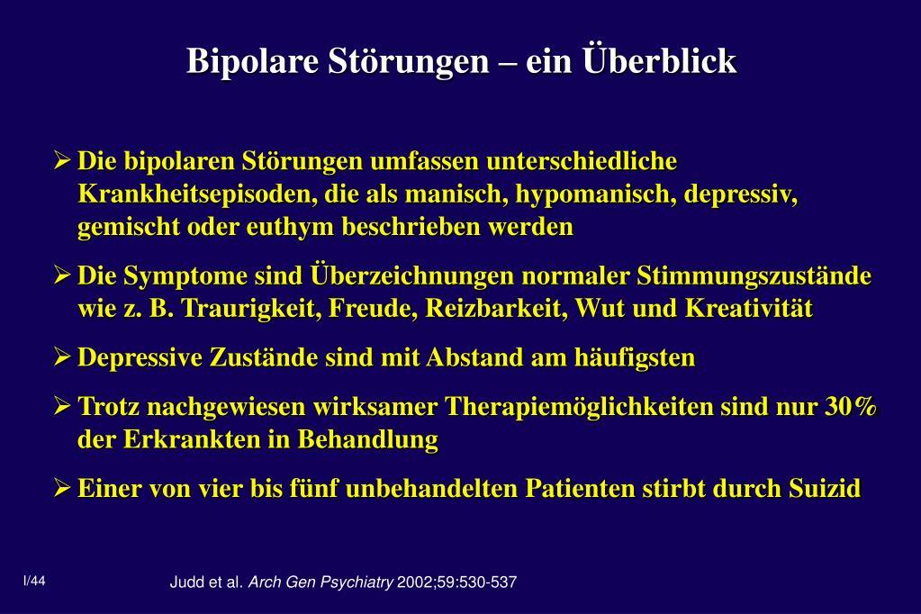 Bipolare Störungen