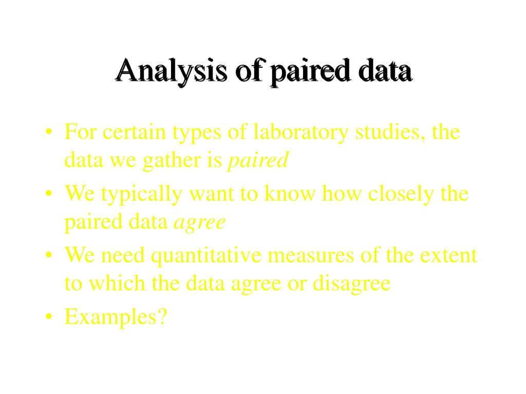 Analysis of paired data