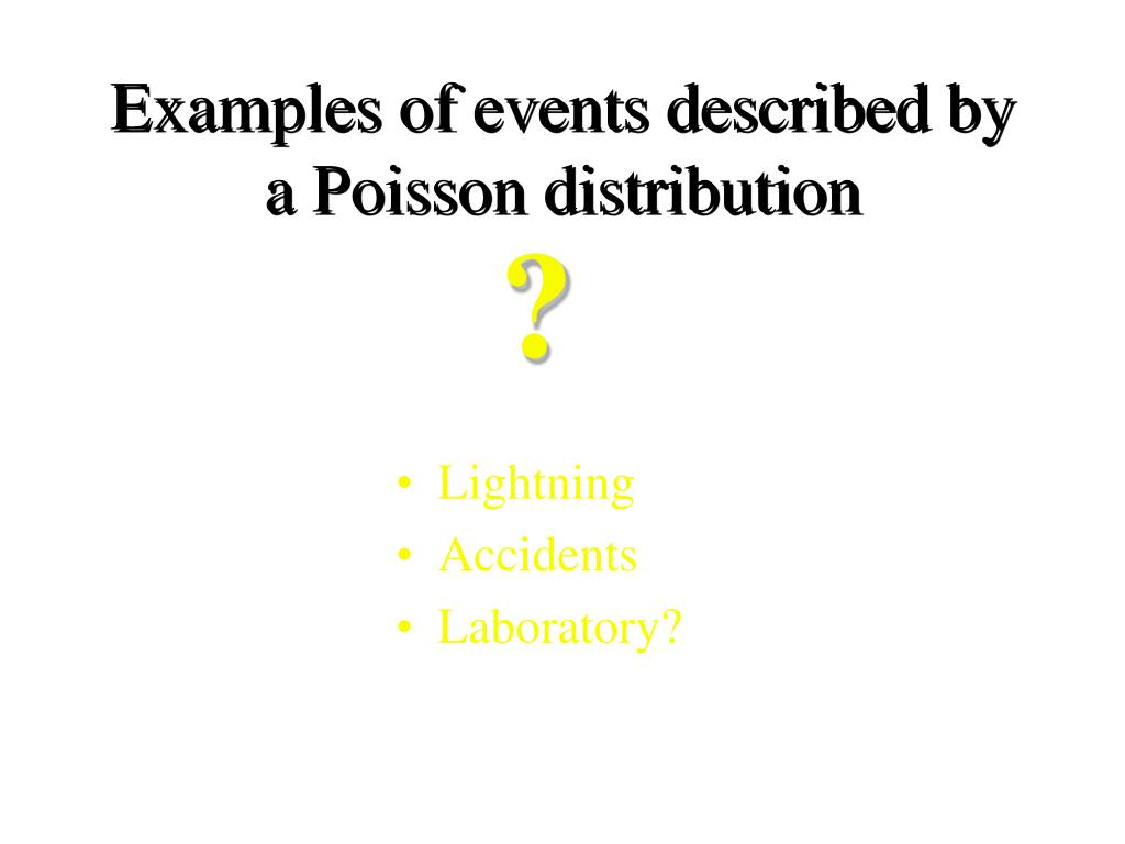 Examples of events described by a Poisson distribution