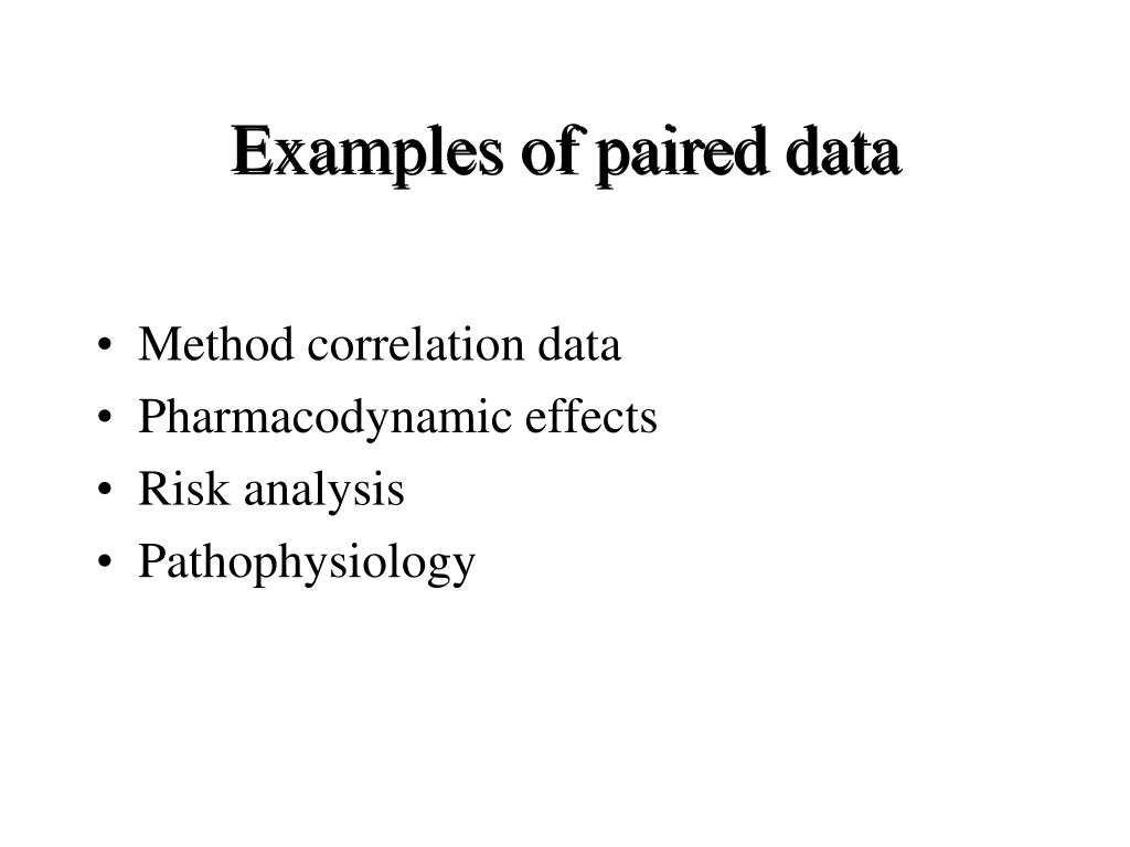 Examples of paired data