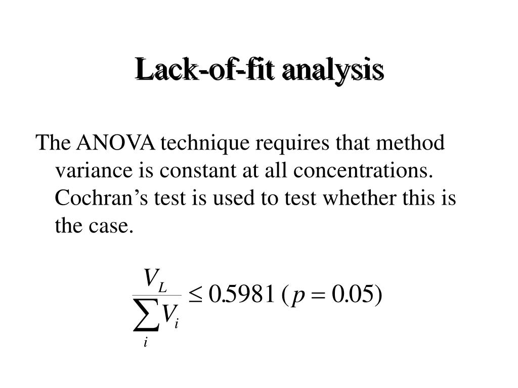 Lack-of-fit analysis