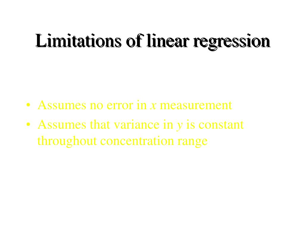 Limitations of linear regression