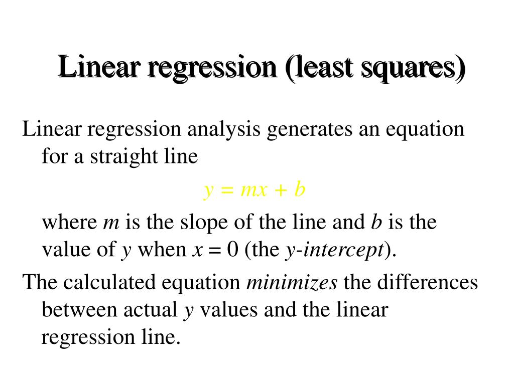 Linear regression (least squares)