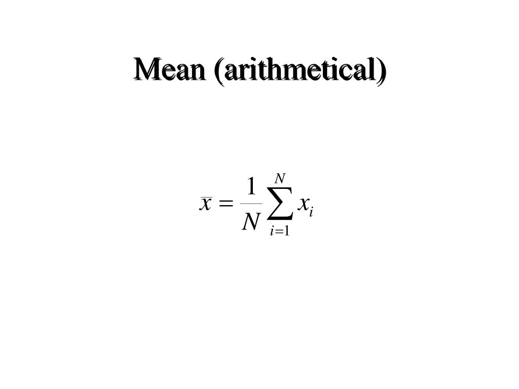Mean (arithmetical)