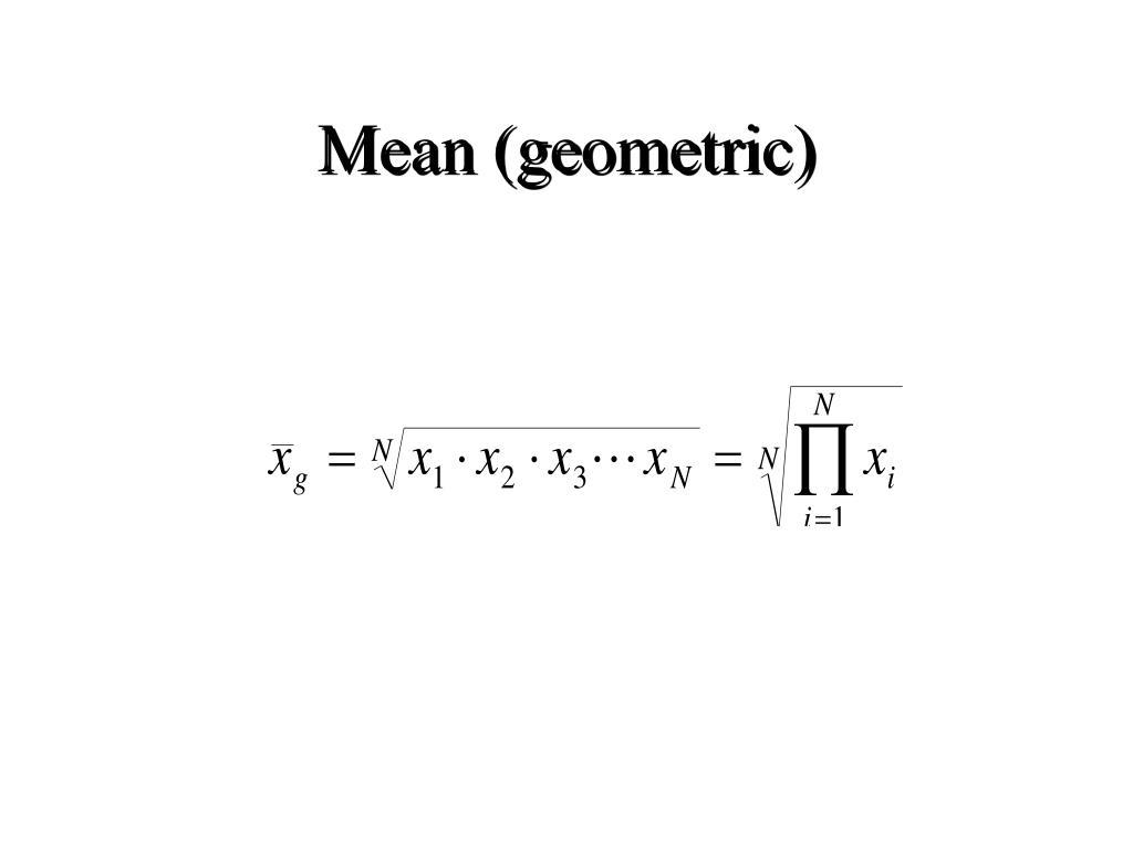 Mean (geometric)