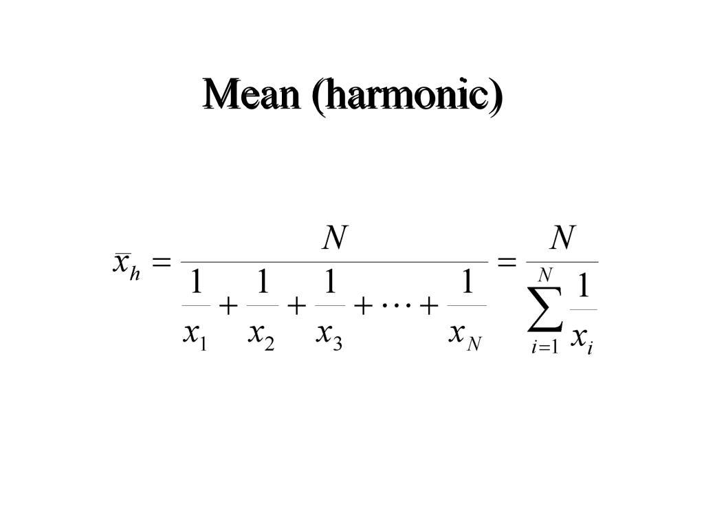 Mean (harmonic)
