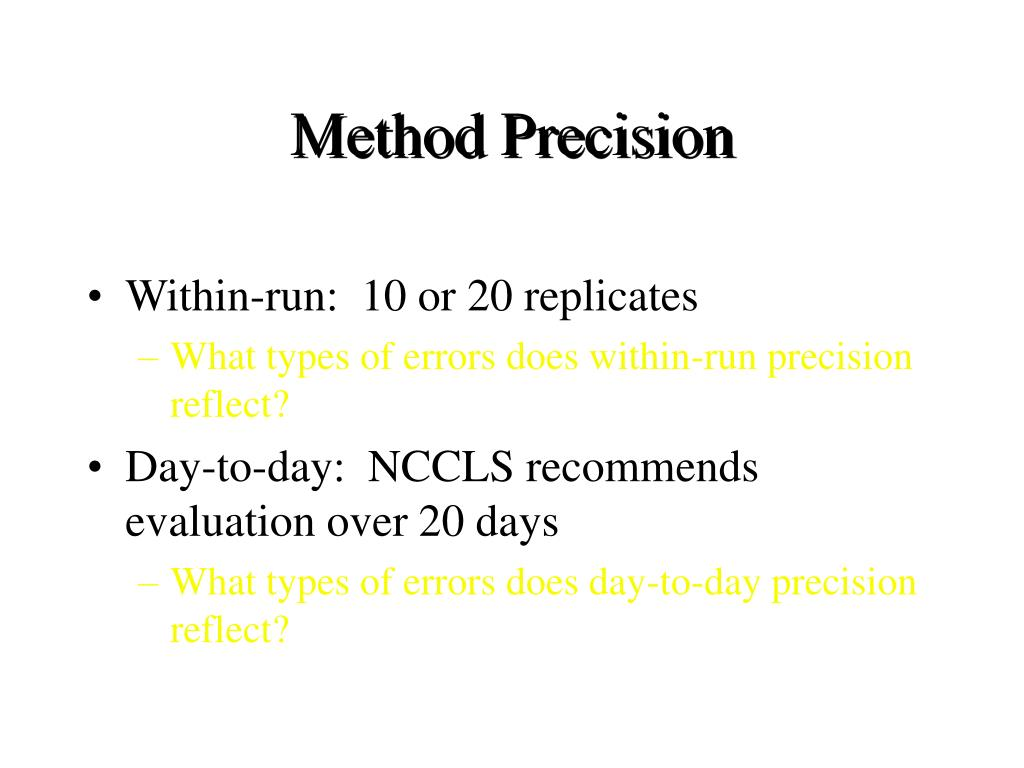Method Precision