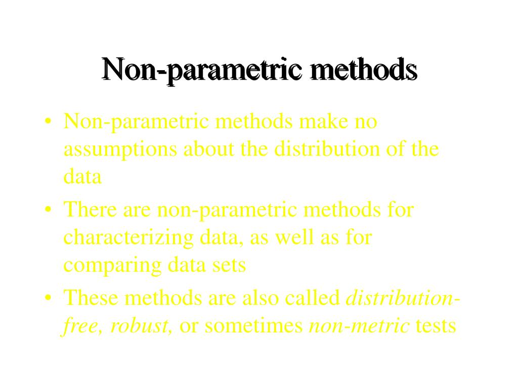 Non-parametric methods