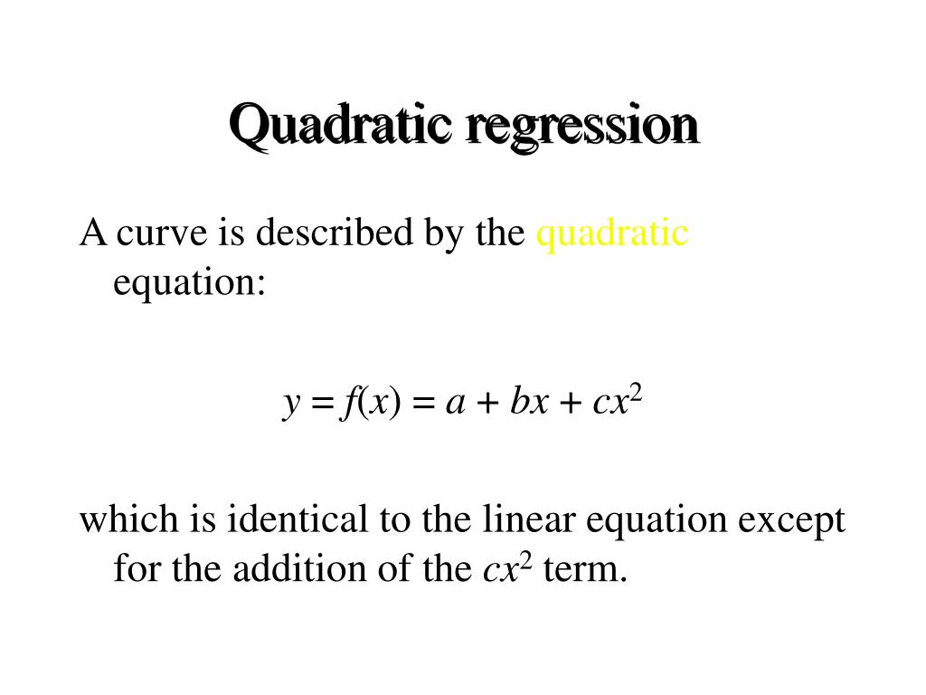 Quadratic regression