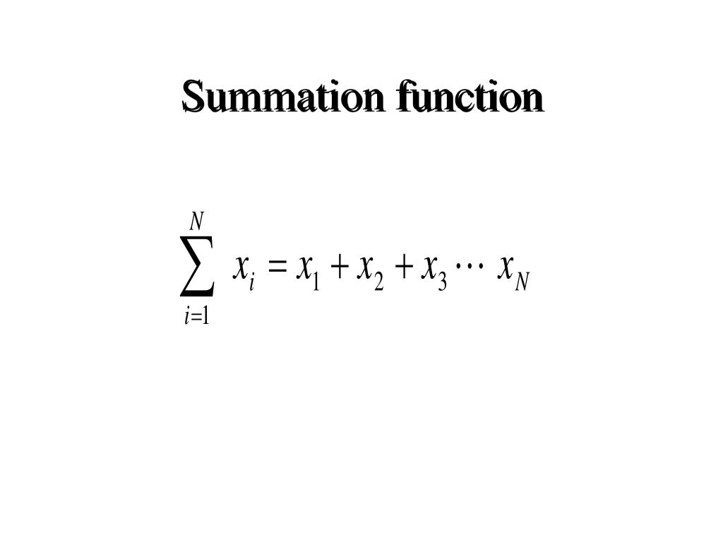 Summation function