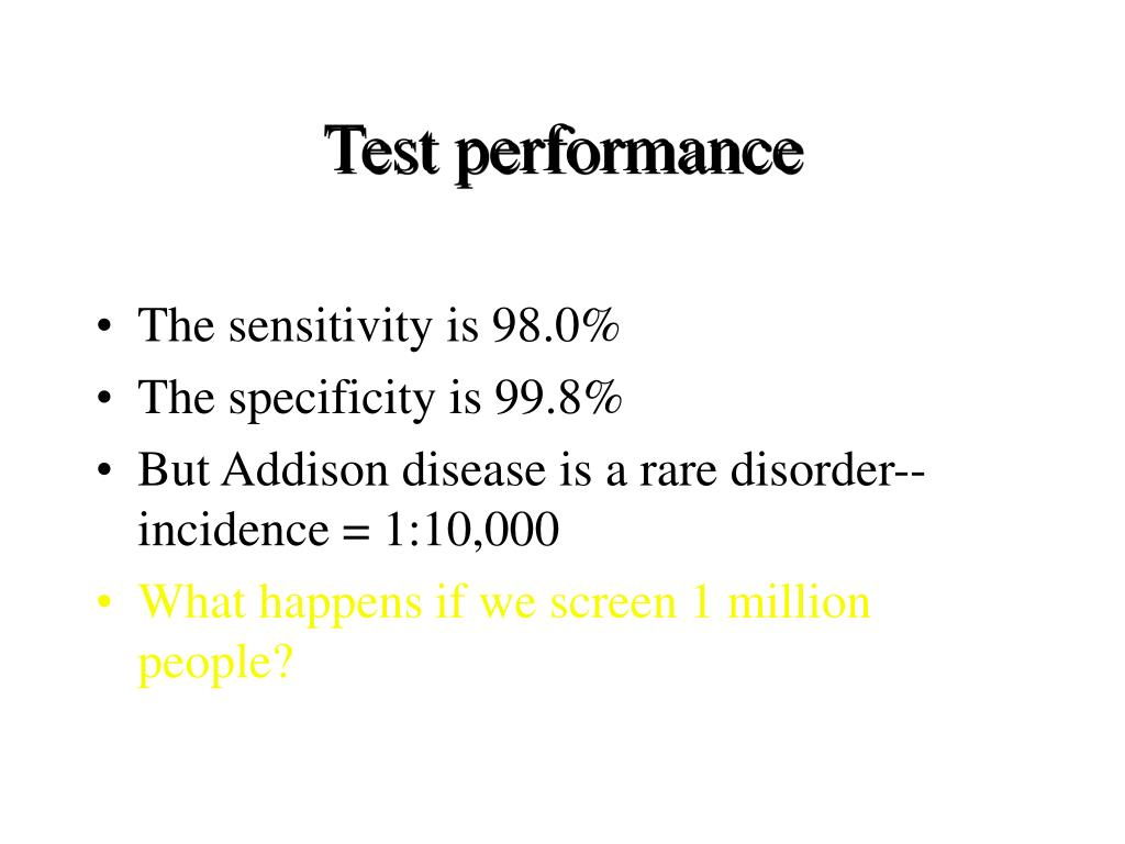 Test performance