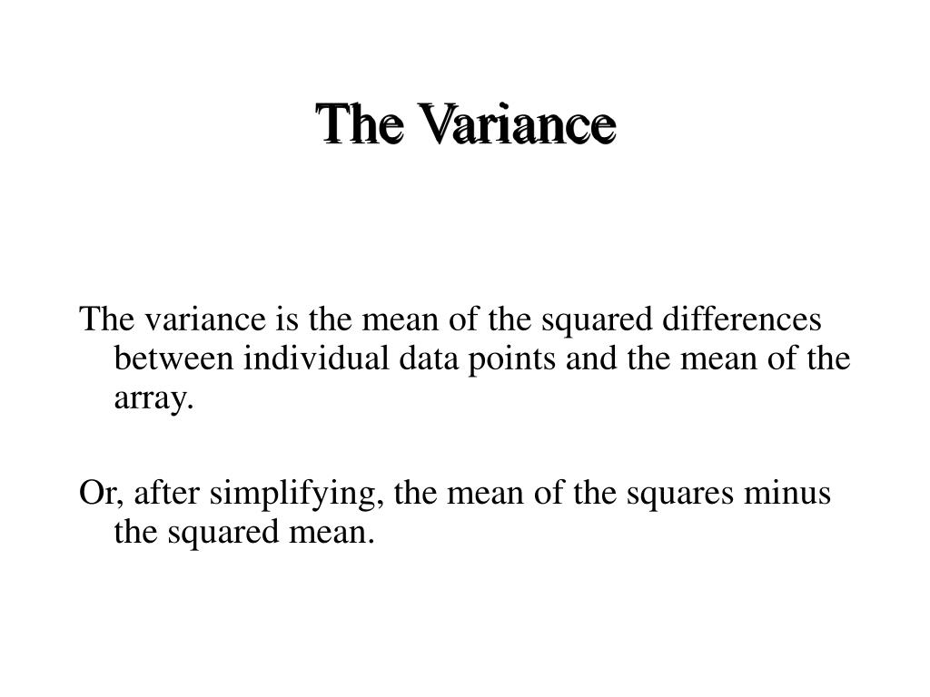 The Variance