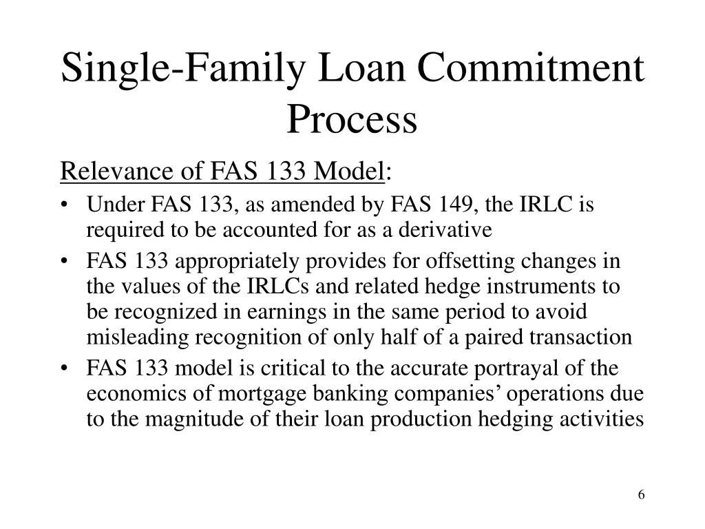 Single-Family Loan Commitment Process
