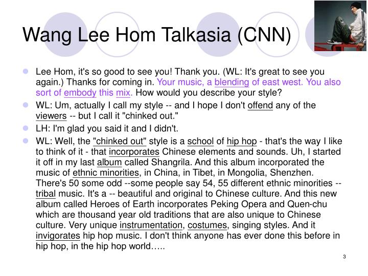 Wang lee hom talkasia cnn