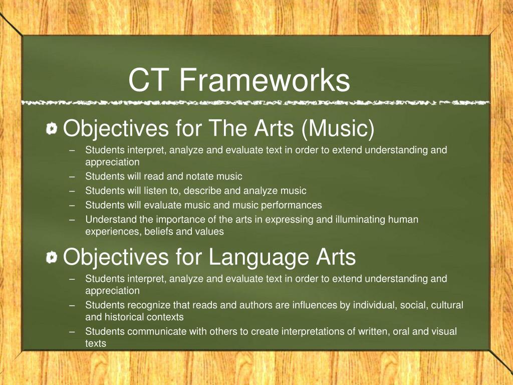 CT Frameworks