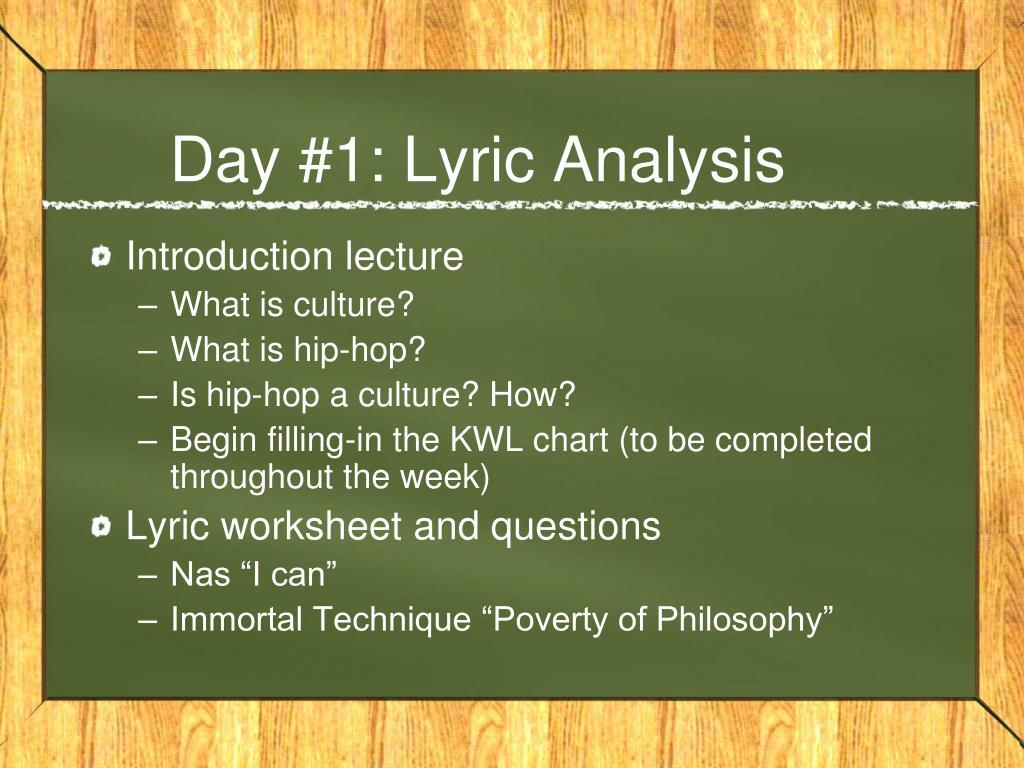 Day #1: Lyric Analysis