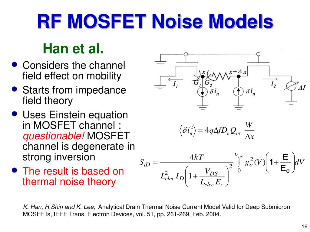 RF MOSFET Noise Models